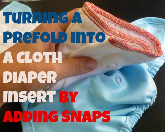 prefold cloth diaper insert