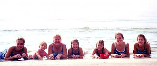 Me, my sisters, & my mom. Circa 1999.